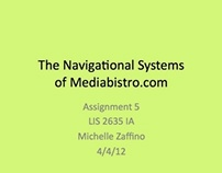 Analysis of the Navigational Systems of Mediabistro.com