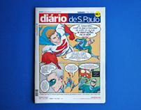 DIÁRIO DE S. PAULO - 1st page in comics