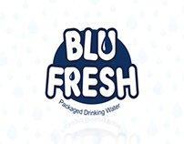 Blu Fresh, Packaged Mineral Water - Logo & Label Design