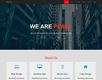Pearl - One Page Portfolio Template