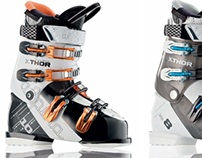 Ski boots product graphics