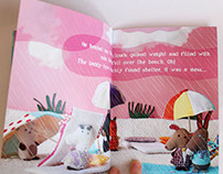 children's book - A day at the beach / Um dia de praia