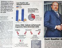 "Layout, graphics, illustrations at  newspaper ""Äripäev"""