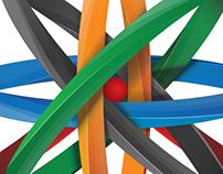 """Baku 2015  Logo """"Olympic circles"""""""