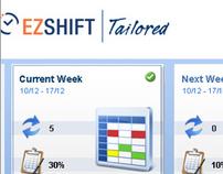 EZShift Scheduling Software GUI Design
