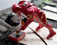 Poo vs Ironman   Toy Story Papertoys