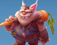 Character Design - Fat Rabbit