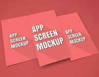 App Screen Showcase Mockup