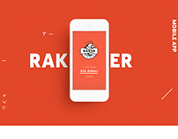 Branding and e-commerce app. Raker
