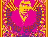 Jimmy Hendrix Poster for InDesign Class
