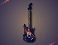 Peça Decorativa - Guitarra