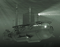 Old and New Bathyscaphe / 3D for documentary film