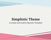 Simplistic Keynote Theme - FREE