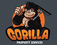 Logo + Macot Gorilla property service