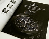 Newsweek magazine - Hublot watches full page promotion