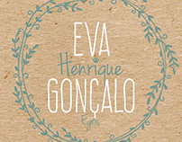 EVA GONÇALO - Wedding invitation