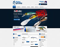 Design of the Fishing Gateway Ecommerce Website