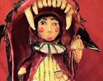 Red riding hood clay model