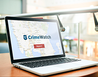 Crime watch designing logo