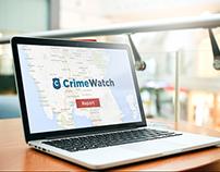 Crime watch designing logo