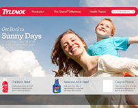 Tylenol website redesign, visual design concepts
