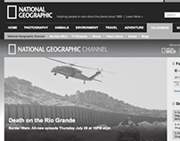 National Geographic Channel, website redesign 2011
