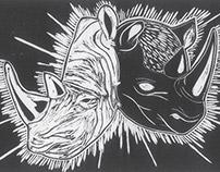 4º Prêmio Ibema Gravura: Rinocerontes