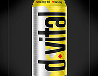 Dvital-EnergyDrink Brand&Identity - Product Label