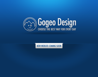 "Gogeo Design - New website - Spashpage ""Coming soon"""