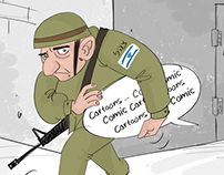 cartoonist arrested by Israeli's occupation