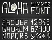 ALOHA / summer font