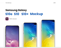 Samsung Galaxy S10e, S10, S10+ Mockup -Freebie