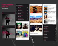 Music website - Free psd template