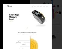 Bagel Tape Measure Landing Page Concept