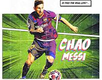Messi Comic Design