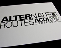 Alternate Routes - ACUI Regional Conference - 2010