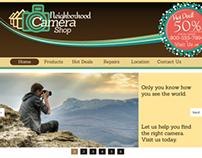 Camera Shop website redesign
