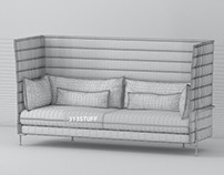 3d model of Vitra Alcove sofa