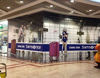 Samsonite store window design