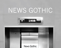 Typographic Poster - News Gothic