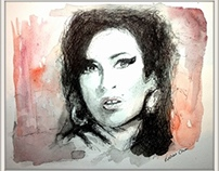 Watercolour portraits