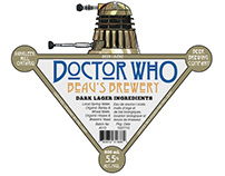 Doctor Who Beer Label