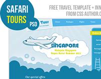Premium Travel Web design Template PSD