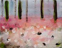 'waar ik ga' schilderijen van Wia Bouma