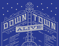 Down Town Alive! 2013 Poster Design