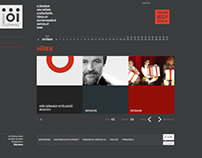 Website design – Theatre Örkény – 2012