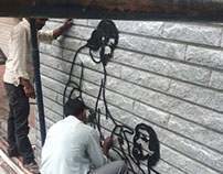 Inkjalebi Metal art murals installed at Bangalore