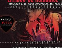 """Portada de disco """"Latidos de rokanrol"""", cartel y flyer"""