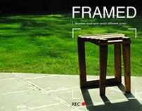 Framed (Wooden Stool)