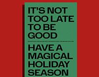 2018 → 2019 season's greetings